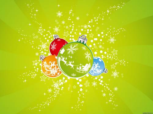 Яркие новогодние шарики