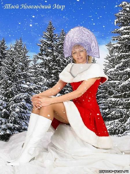 фото сексуальних снігурочок раком